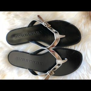 Burberry parsons sandals nova check size 7